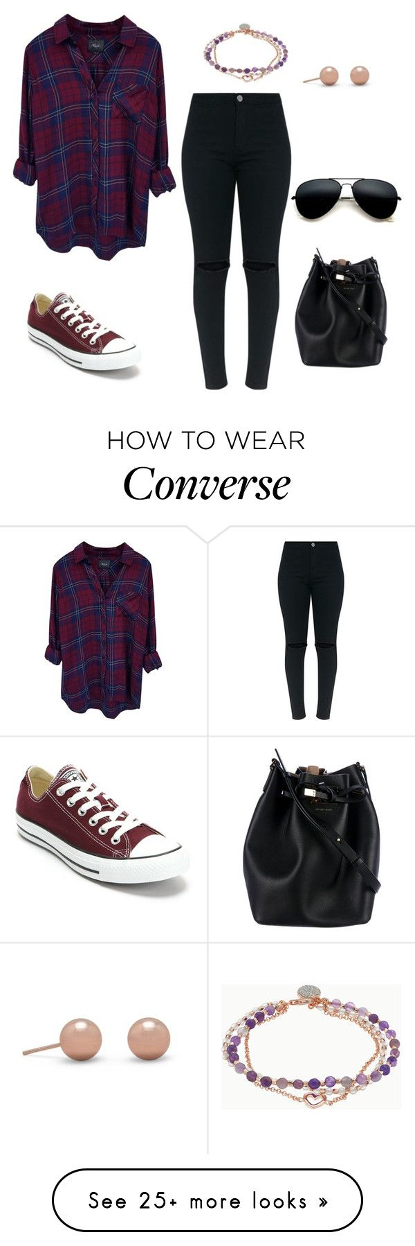 """""""Untitled #1146"""" by kayla250 on Polyvore featuring Rails, Converse, Michael Kors and Love This Life"""