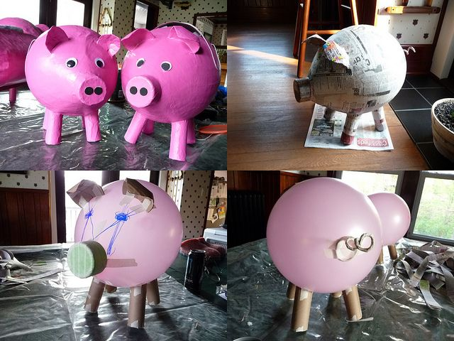 Best 25 homemade pinata ideas on pinterest in the bag for Best way to paper mache a balloon