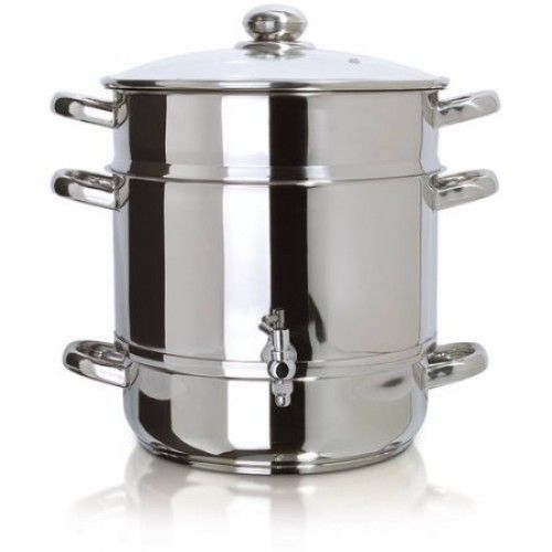 steam juicer stainless steel  The stainless steel steam juicer, using the specifically created spigot, will extract 100 percent pure and tasty juice using the power of steam from all of types of fruit.  All of the juicing is completed directly ...