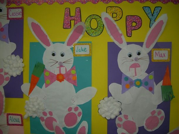 Classroom Easter Ideas : Easter bunny bulletin board craft classroom ideas