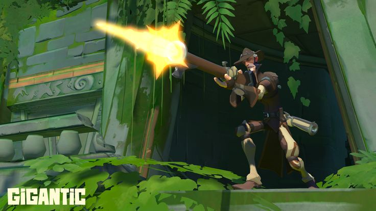 Roland is a bounty hunter with the guns and gadgets to hunt down victory in Gigantic.