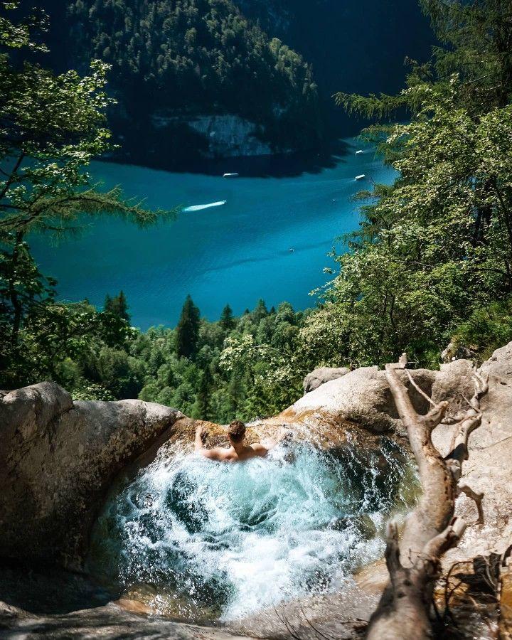 Infinity Natur Pool Am Konigssee Nationalpark In Bayern Deutschland In 2020 Traumurlaub Urlaub Bayern Natur Pool