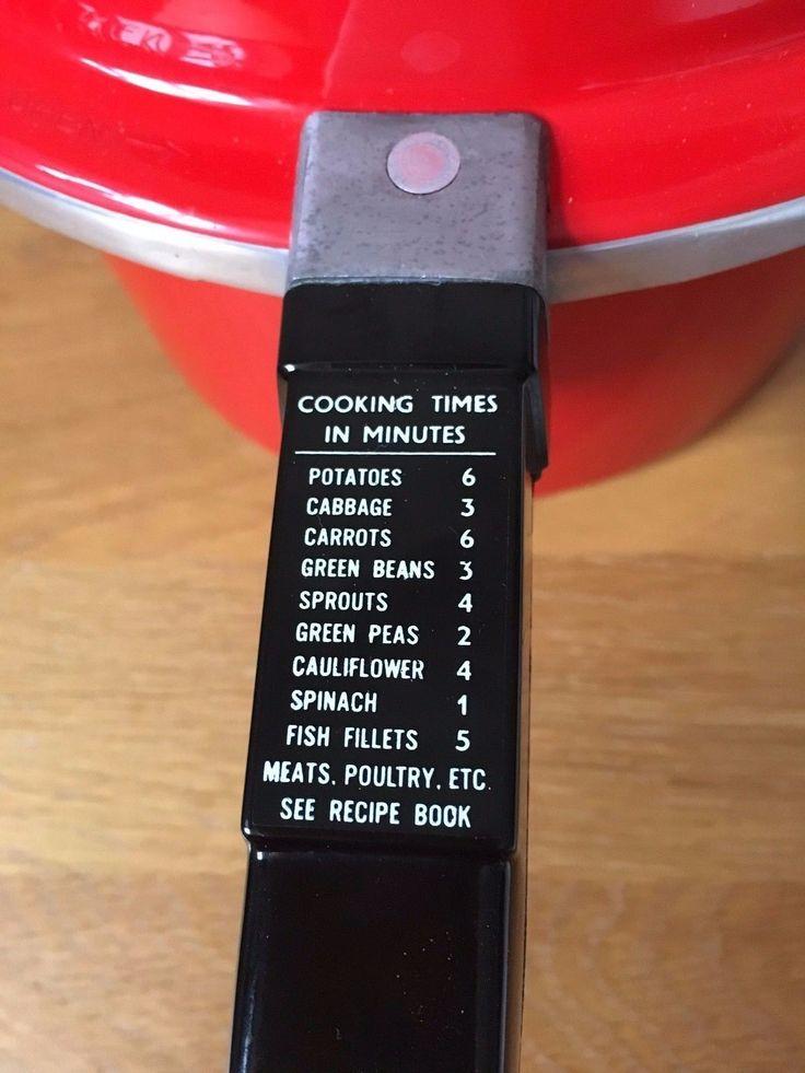 Vintage Prestige Pressure Cooker, Hi Dome,red, excellent condition 2