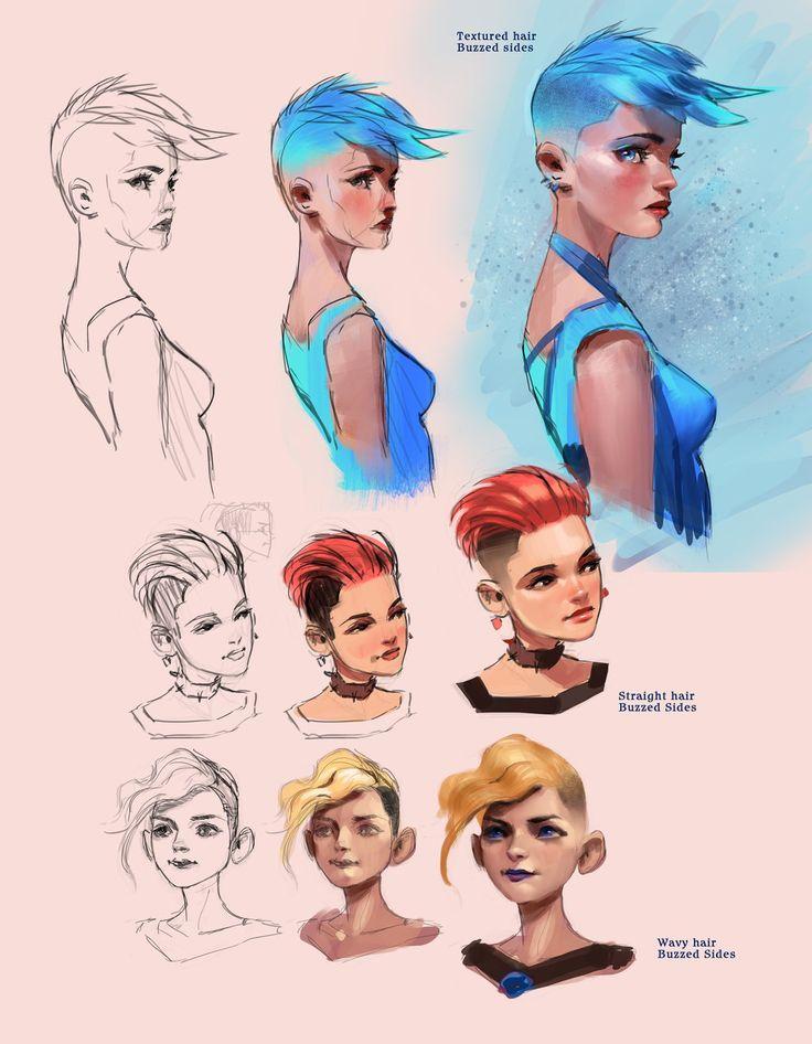 Female hair styles tutorial by medders -                                         How to Art