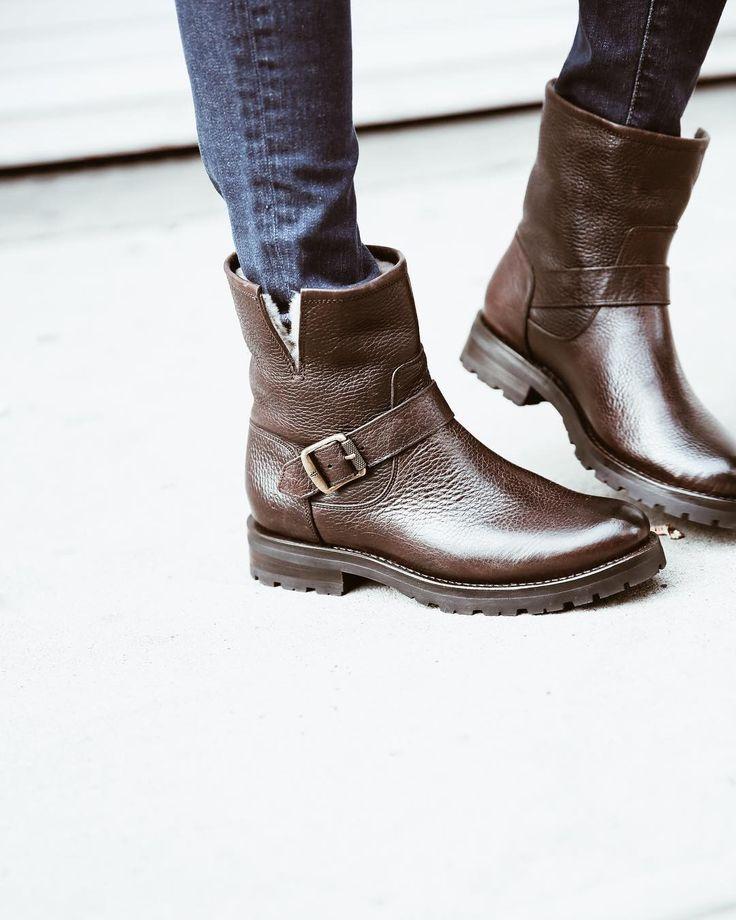 Natalie Short Engineer Lug Shearling Boots | The Frye Company