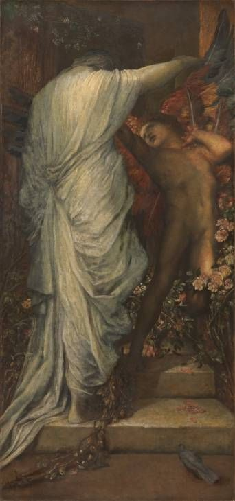 George Frederic Watts (1817‑1904) - Love and Death - Oil  on canvas  c.1885-7