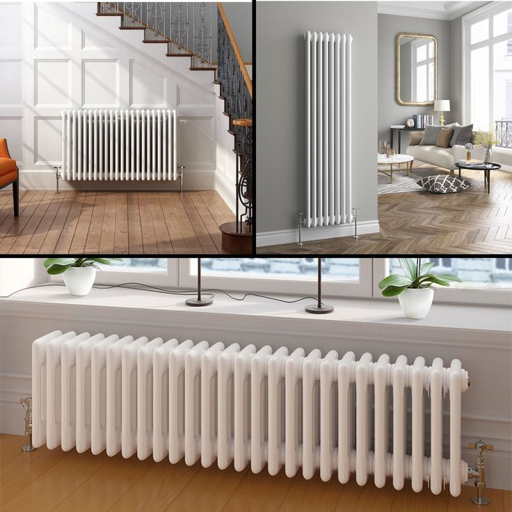 Vertical or Horizontal Traditional Cast Iron Style Column Bathroom Radiators | eBay