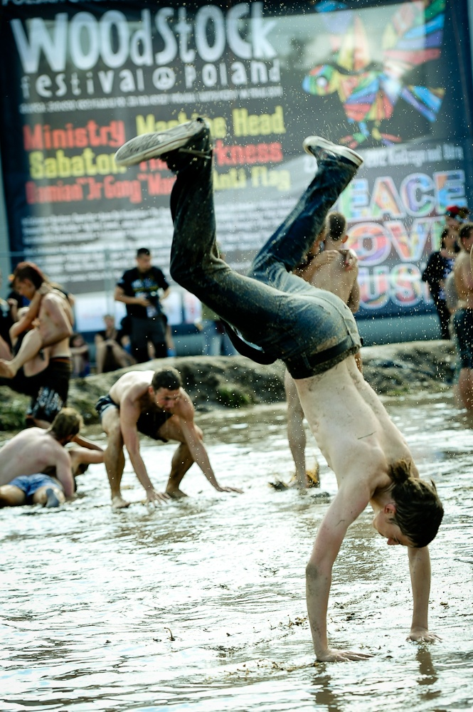 18th Woodstock Festival Poland - mud acrobatics