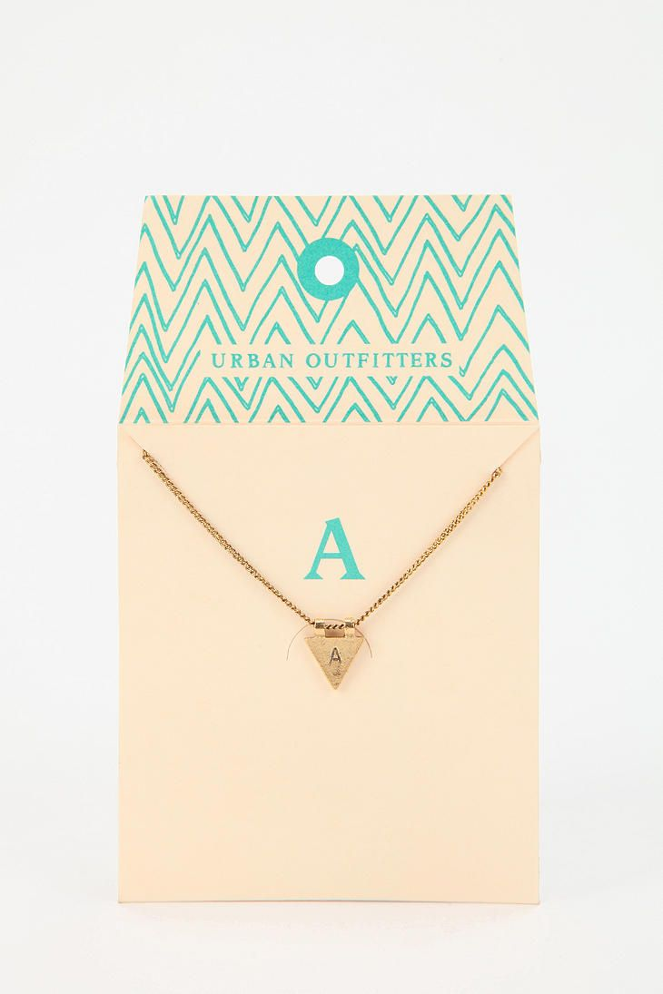 Triangle Initial Gift Card Necklace Less Is More In 2018 Gifts Jewelry Packaging