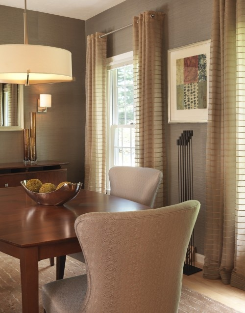 49 best images about dining room window treatments on for Modern dining room window treatments