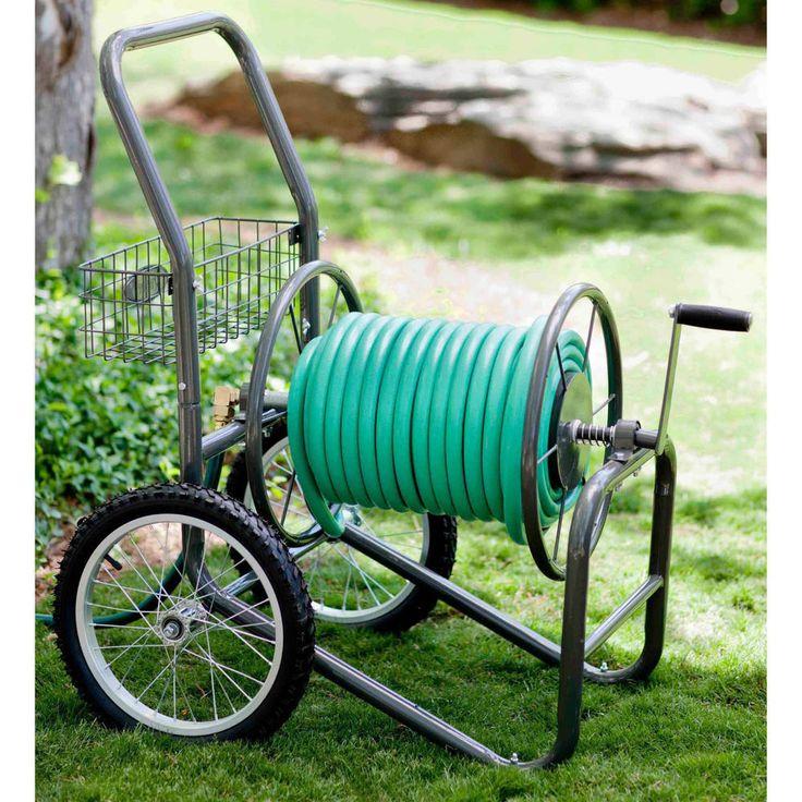 Garden Water Hose Reel Cart Industrial Portable Wheels Easylink Smooth Reel  #un