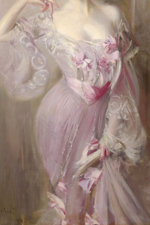 Detail of Portrait of Betty Wertheimer by Giovanni Boldini, 1902