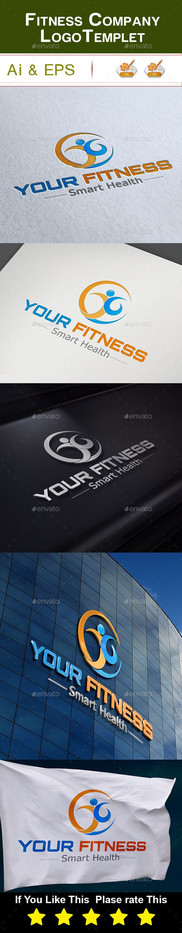 Fitness Company Logo This is a fitness company Logo Template . This template download contains 1 AI,& 1 EPS, Logo, which is 300 dpi CMYK files. All main elements are easily editable and customizable.