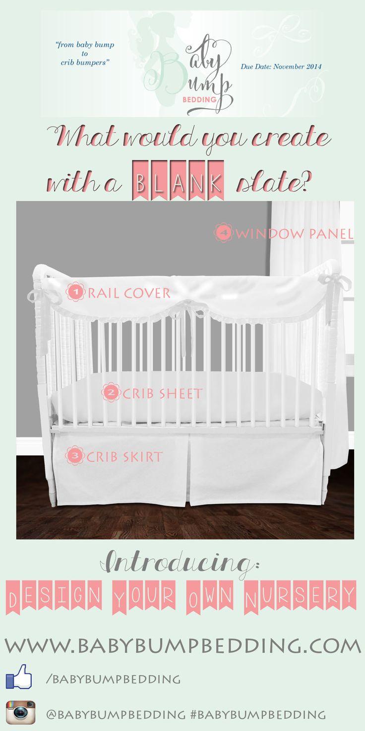 Baby Bump Bedding. Custom Baby Bedding. Custom Nursery. Design Your Own Baby Bedding. Due Date: November 2014.