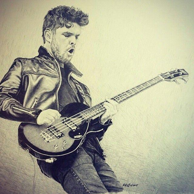 Fricking insane drawing of Mike kerr by @electrichyena !  #royalblood
