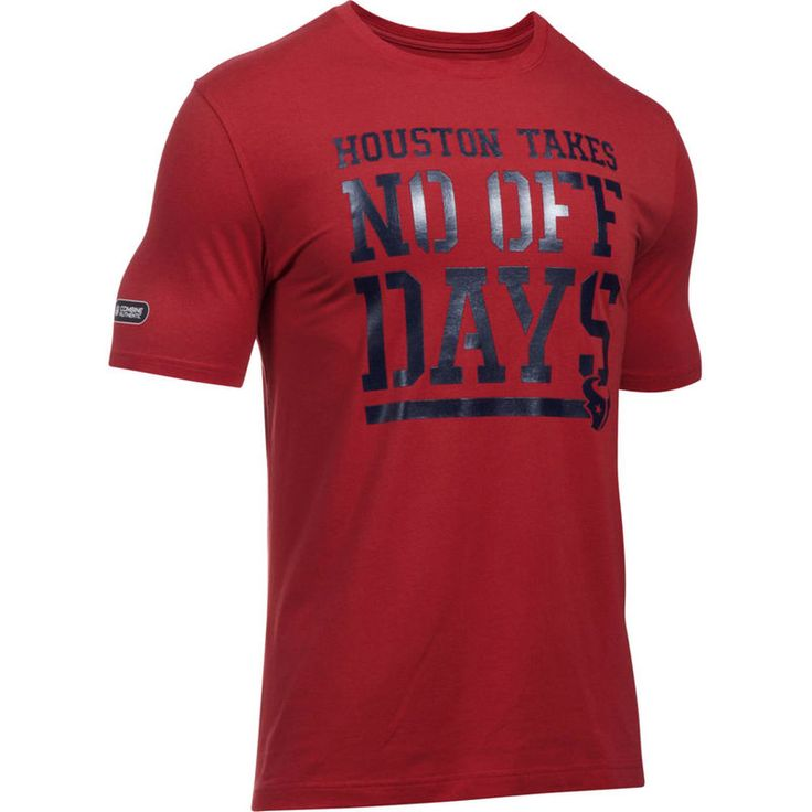 Houston Texans Under Armour Combine Authentic No Days Off T-Shirt - Red