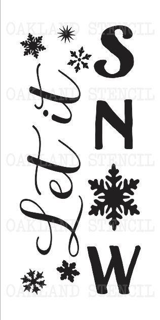 Winter/Christmas STENCIL**Let it Snow**Four sizes for Signs Fabric Wood Canvas #Unbranded