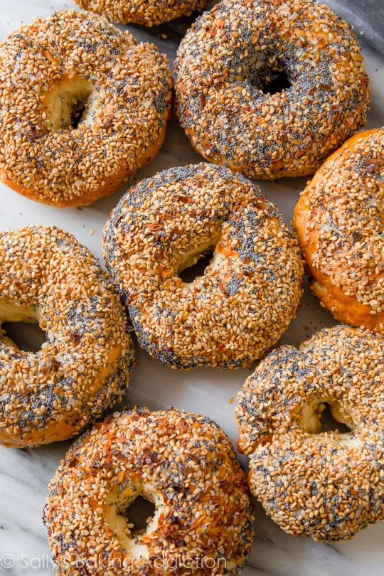 Homemade Everything Bagels - Here is a complete step-by-step instructional tutorial (and recipe!) for homemade bagels. I love the everything flavor!
