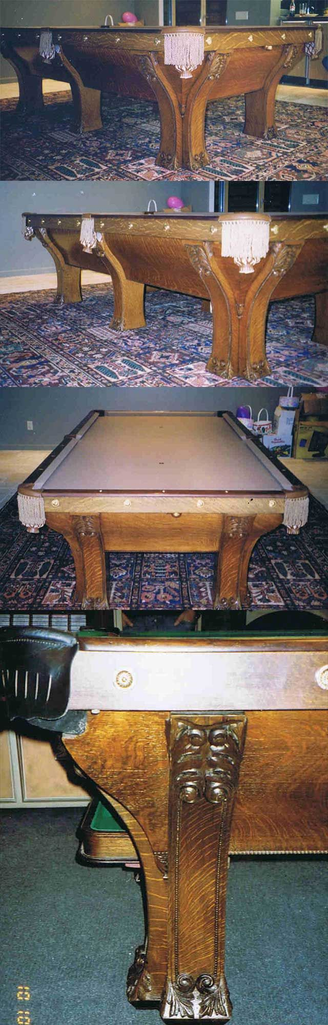Classic Billiards   Antique Pool Tables U0026 Antique Pool Table Parts   Table  Display