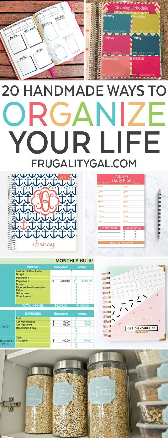 Organizing Ideas: A list of organization ideas to organize your home and life using these 20 awesome handmade products from small makers and designers on Etsy.