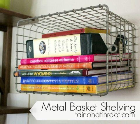 metal basket shelving 1