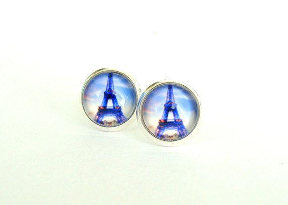 Paris Paris Stud Earrings by CarolinePrecjoza on Etsy