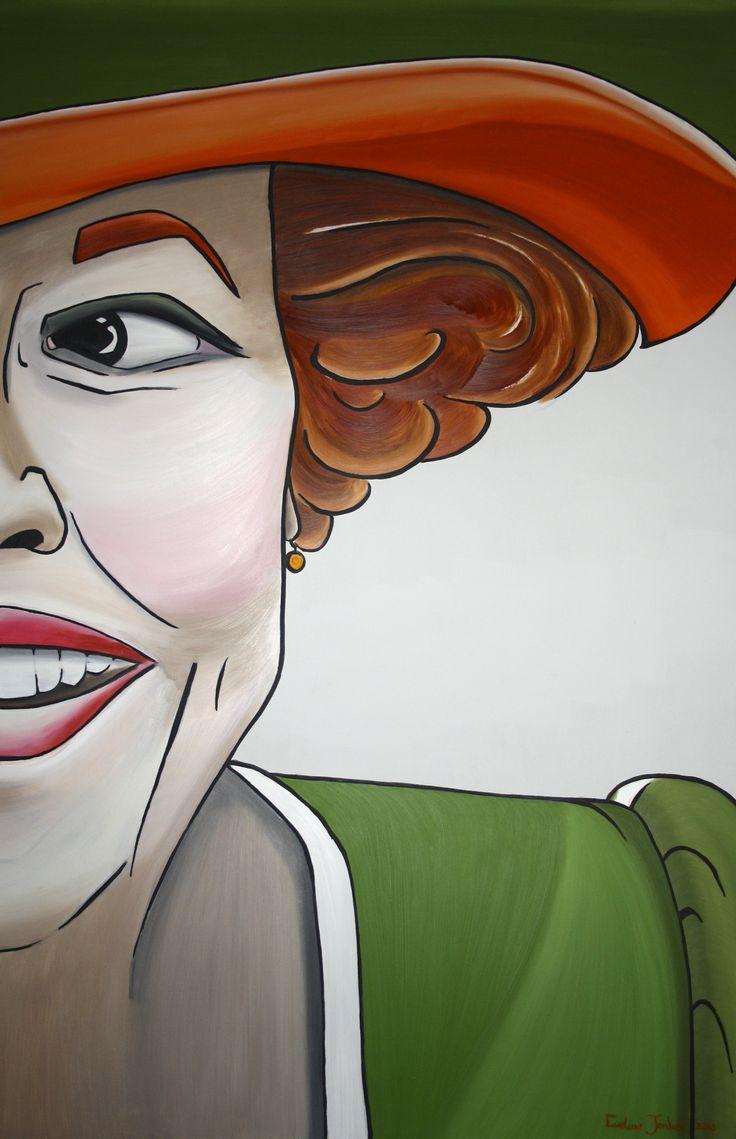 Beatrix geschilderd ter ere van haar 75ste verjaardag, ten toon gesteld in Paleis 't Loo en Paleis Soestdijk