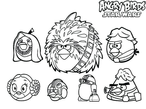14++ Star wars angry birds coloring page free download