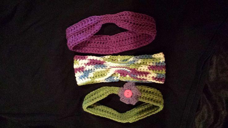 Headbands (Purple  & Green) by FabNGrab on Etsy