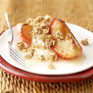 Try this crispy heart-healthy recipe for breakfast, or for a light sweet dessert.