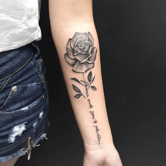 41 Rose Tattoos That Will Make You Reallllly Want a Rose Tattoo ! – Page 18 of 41