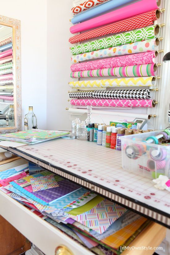 Diy Scrapbook Paper Organizer Bag Storage Gift Wrap And
