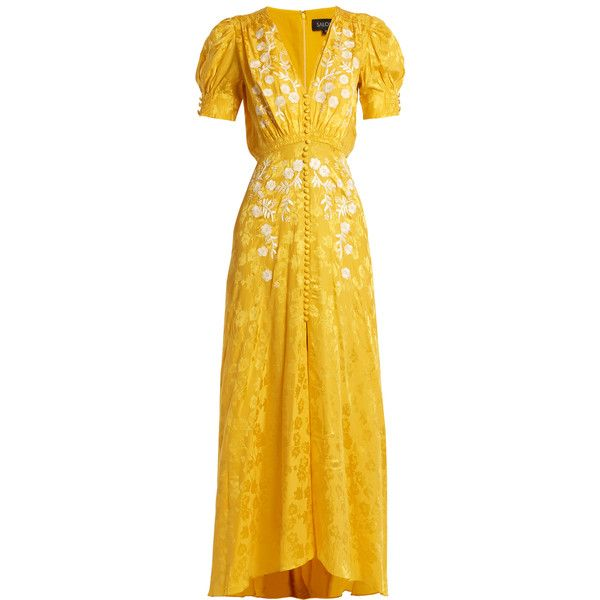 Bright yellow dress polyvore quotes