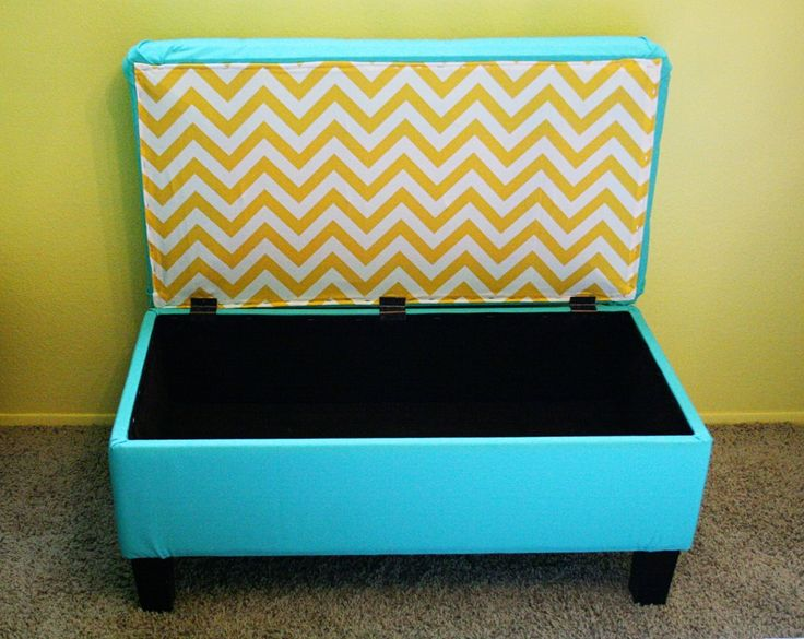 Reupholstered storage ottoman. | Clever crafts | Pinterest | Leather,  Storage and Love - Reupholstered Storage Ottoman. Clever Crafts Pinterest
