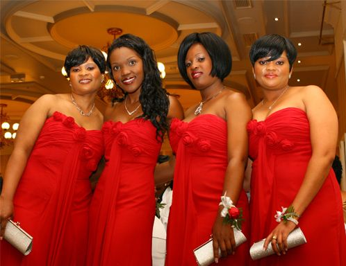 Real #bridesmaids dressed in Bride&co dresses. Click to view more Real #Wedding inspiration or browse our 10 bridesmaids styles in 30 colour variations.