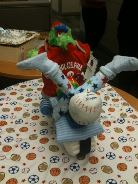 Baby Shower Gifts Made Out Of Diapers ~ Perfect baby shower gift my phillies diaper cycle it s