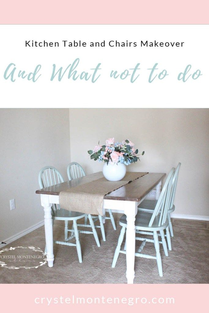 Oak Kitchen Table and Chairs Makeover -- Learn what NOT to do!