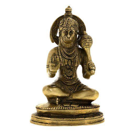 Hindu God Hanuman Statue Brass Decor Indian 5.5 Inches ShalinIndia http://www.amazon.in/dp/B00CGUB61E/ref=cm_sw_r_pi_dp_BMwaub1PE59SB