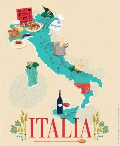 Vintage Poster of Italy!