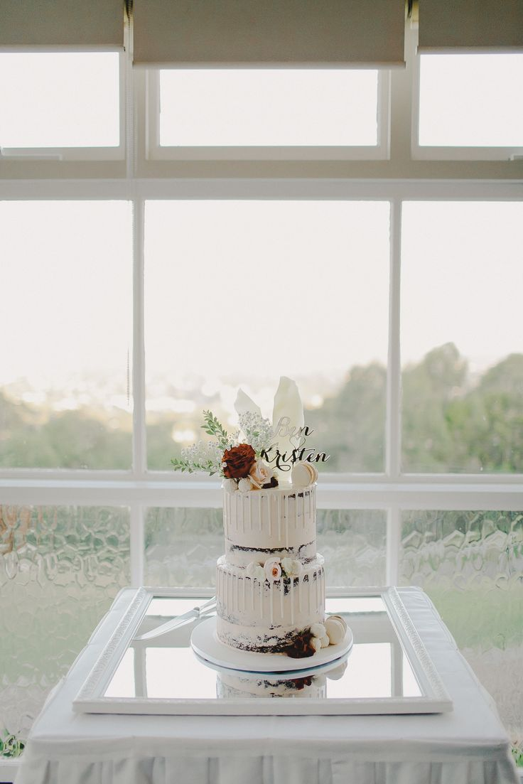 Wedding Cake. Naked Cake. Blush. Red. Mirror. Classic. Romantic. Photography by Juddric Photography. www.summerdean.com.au