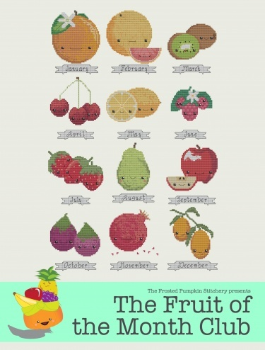 Fruit of the Month - The Frosted Pumpkin Stitchery