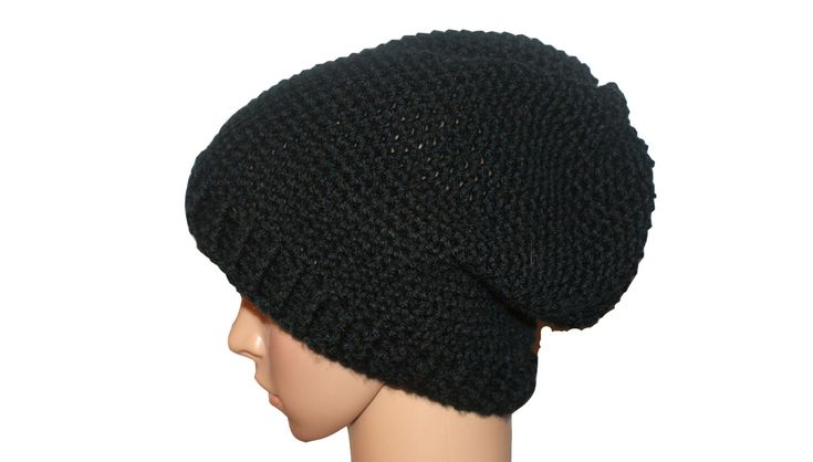 Excited to share the latest addition to my #etsy shop: Biker Hat, Black Biker Hat, Mens Classic Hat, Black Toque, Hipster Hat, Black Skull Cap, Black Snow Hat, Crochet Slouch Hat, Black Hat