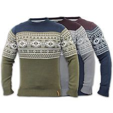 Pull Homme Soul Star Tricoté Pull Jacquard Fair Isle Rustines Pull-over DD1