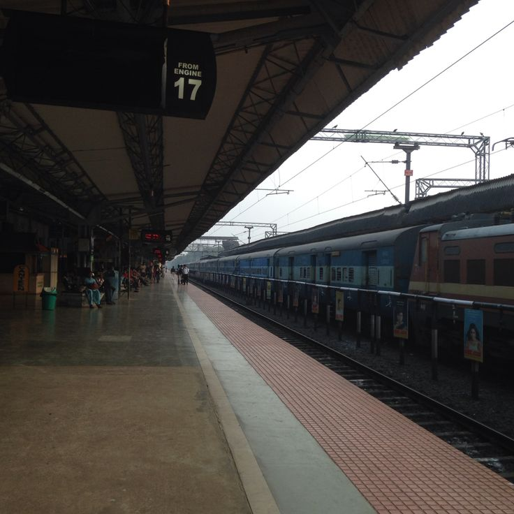 Kerala train platform, India.