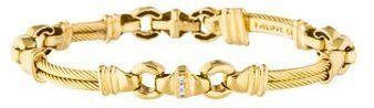 Philippe Charriol 18K Rope Link Diamond Bracelet