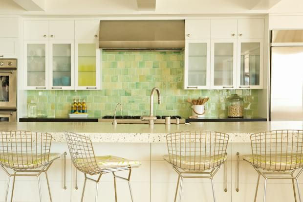 Kitchen ideas on Pinterest  Granite, Green subway tile and Lime green
