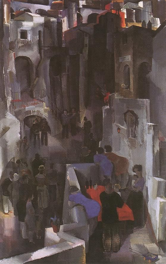 Concert in the Square  by Vilmos Aba-Novák