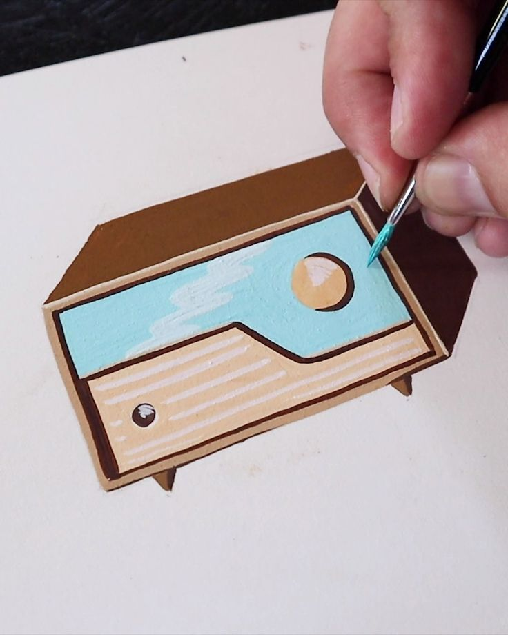 Painting a Retro Radio by Philip Boelter