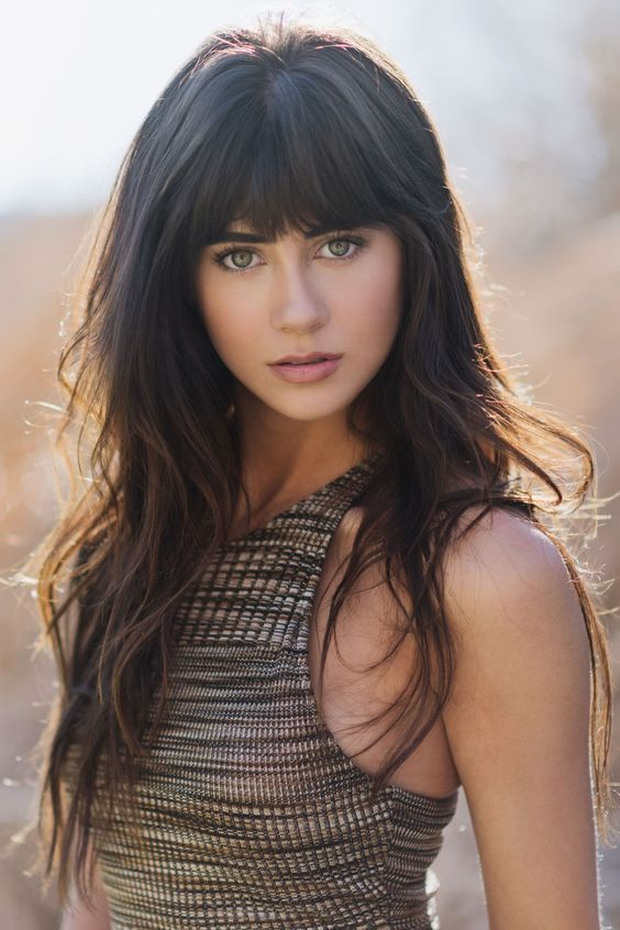 Best Long Hairstyles with Bangs, long layered hair style with bangs