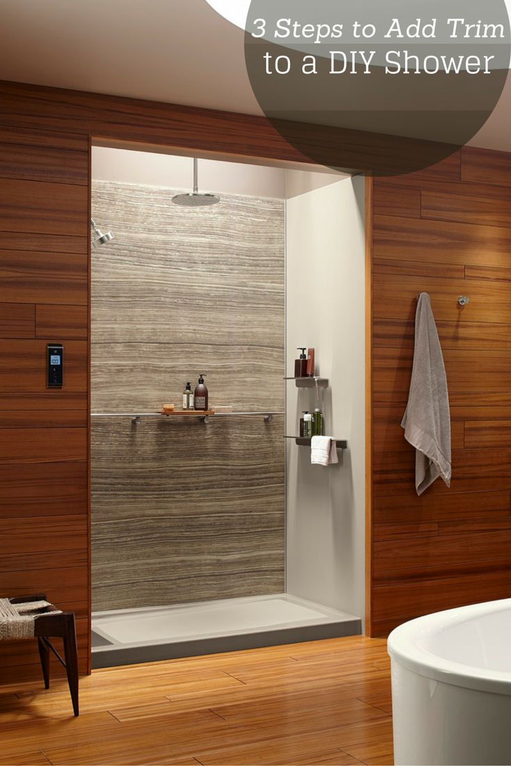 3 steps to add trim and borders to diy shower wall panels. Bathroom Wall Panels  Shower Wall Panels  Grey Marble Multipanel
